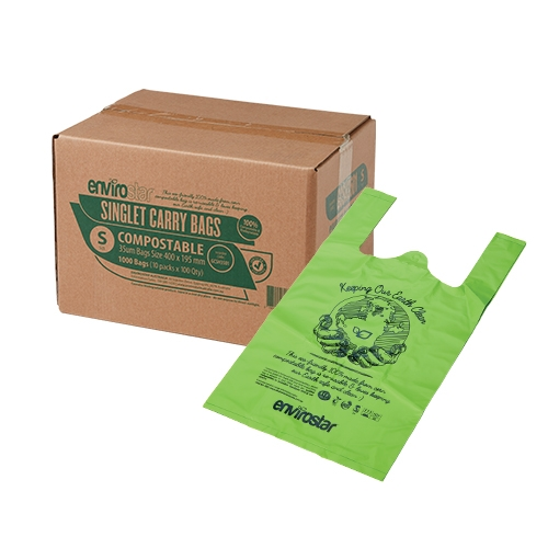 Compostable Singlet Bags 37um Small - GCSHB01